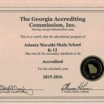 AMS Accreditation Certificate for 2015-16